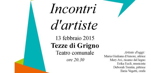 Incontri d'artiste, 13 febbraio a Tezze di Grigno