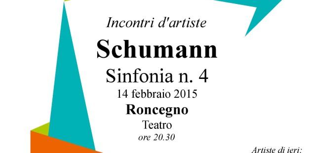 Incontri d'artiste, 14 febbraio a Roncegno: Schumann, sinfonia 4