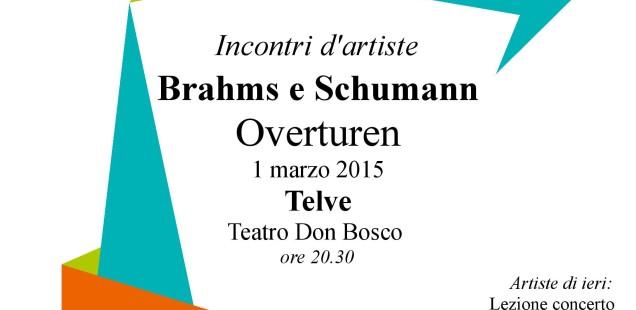 Incontri d'artiste, 1 marzo a Telve: Schumann e Brahms, overturen