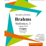Incontri d'artiste, 7 marzo a Grigno: Brahms, sinfonia 3