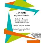 Concerto sinfonico-corale, 5 novembre 2016 – Chiesa di San Donà – Trento